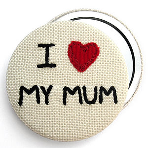 'I Love…' Personalised Compact Mirror - stocking fillers under £15