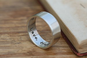 Pure And Simple Personalised Mens Ring - wedding jewellery