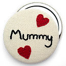 Personalised Embroidered Name Compact Mirror