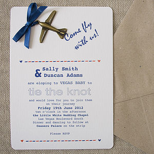 'Fly With Us' DIY Wedding Invitation Pack - wedding stationery