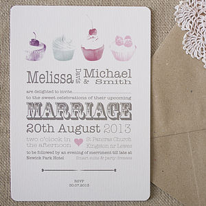 'Love Is Sweet' Wedding Stationery - invitations