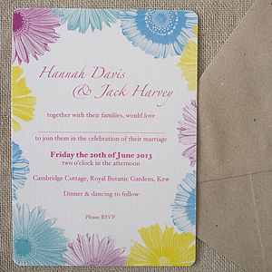 Festival Flowers Wedding Stationery