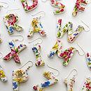 Porcelain Letter Earrings