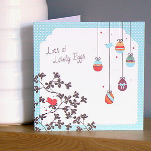 'Lots Of Eggs' Easter Card - easter cards
