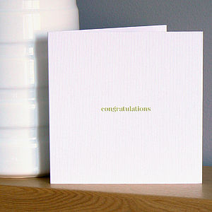 'Congratulations' Greetings Card - new job cards