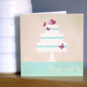 'On Your Special Day' Wedding Cake Card - wedding cards & wrap