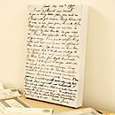 Personalised Vintage Letter Canvas