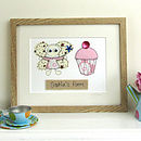 Personalised Embroidered Fairy Framed Artwork