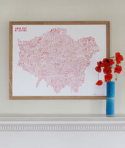 Word Map Of London / Bus Red