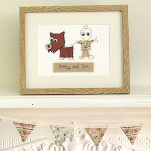 Personalised Pet Embroidered Artwork - children's room