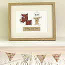 Personalised Pet Embroidered Framed Artwork