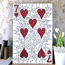 Seven Of Hearts Mosaic Wall Art