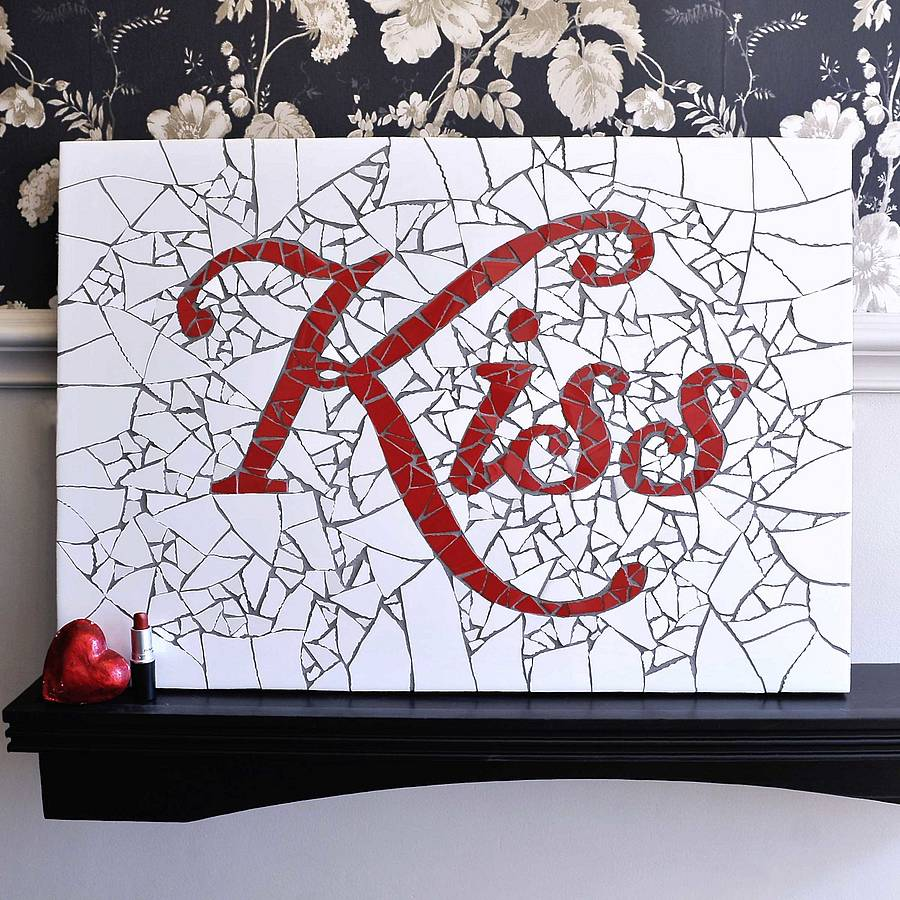 'Kiss' Mosaic Wall Art