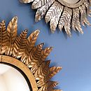 aurum mirror, bronze below, silver above