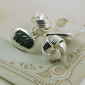 Classic Knot Cufflinks - jewellery for the groom