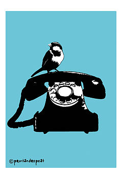 Retro Telephone Print