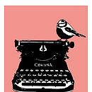 Retro Typewriter Print