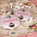 Thumb bedcrumb tea party  personalised pocket mirror favour £4.00 each or £60 for 20