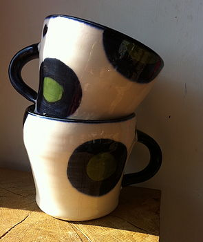 Spotty Ceramic Handmade Mug Or Bowl
