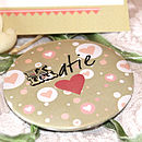 Sweethearts -Personalised Pocket Mirror Favour
