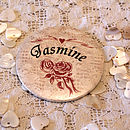 Antique Roses -Personalised Pocket Mirror Favour