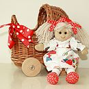Mini Wicker Doll's Pram