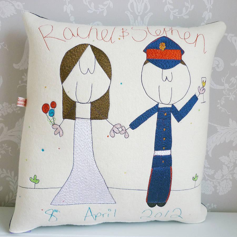 Notonthehighstreet Personalised Wedding Gift : homepage > SEABRIGHT DESIGNS > PERSONALISED WEDDING GIFT CUSHION