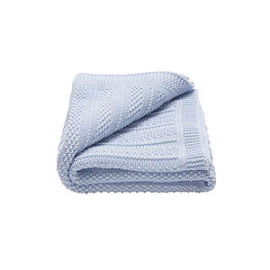 Babies Bubble Knitted Blanket - children's accessories