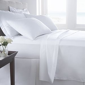 Vermont White Organic Cotton 200 Tc Percale Bed Linen