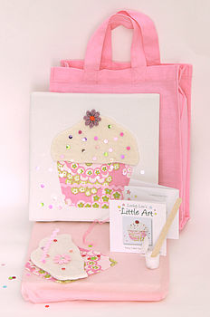 Children's Cupcake Canvas Craft Kit