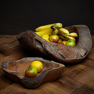 Hand Carved Wooden Bowl - kitchen