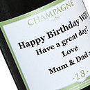 Personalised Half Bottle Of Champagne