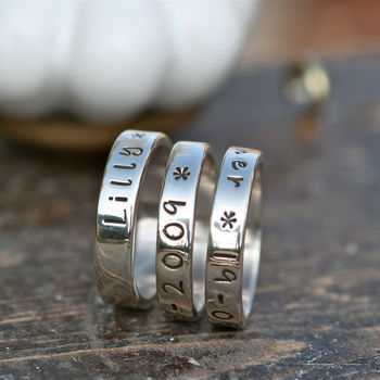 Simplicity Personalised Silver Band