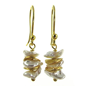 Shangri-La Pearls on gold vermeil collection - earrings