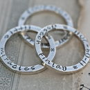 Silver Slender Trio Of Rings