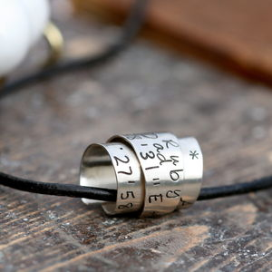 Personalised Secret Scroll Mens Chain - necklaces