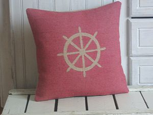 ' Nautical Ships Wheel ' Cushion - patterned cushions