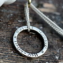 Personalised Silver Ring Necklace