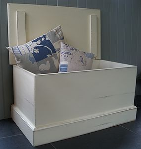 Blanket Box Hand Painted In Any Colour And Size - chests & blanket boxes