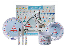 Sailing Boats Children's Melamine Set - baby care