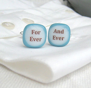 'For Ever And Ever' Cufflinks - cufflinks