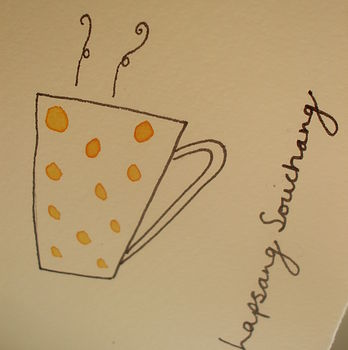 Hand Illustrated Tea Cup Cards