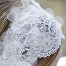 Larissa Ivory Lace Flower Bridal Hairband