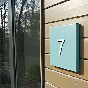 Miami House Number Plate - home accessories