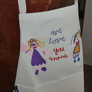 Personalised Apron With Your Child's Drawing - aprons