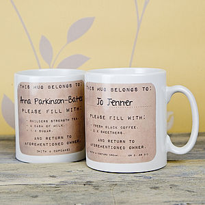 Personalised Drink Instructions Mug - tableware
