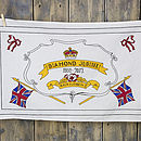 Diamond Jubilee Hand Illustrated Tea Towel