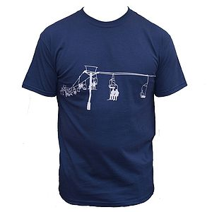 Ski Lift T Shirt - men's fashion