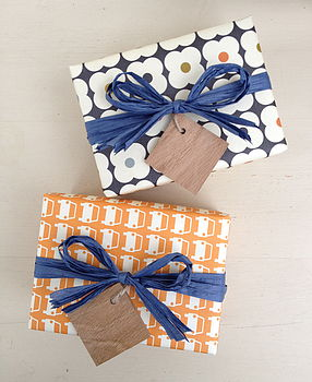 Square Oak Wooden Gift Tag