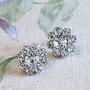 Bessie Crystal Flower Stud Earrings